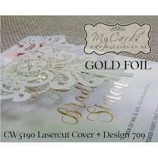 Foil Wedding Invitations Gold Foil Wedding Invitation Design 709 Mycards Akld Nz