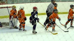 kids ice hockey game end of game youtube