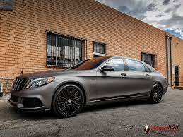 lexus wrapped mercedes benz maybach s600 v12 wrapped in charcoal matte metallic
