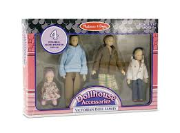 amazon com melissa u0026 doug 4 piece victorian vinyl poseable doll