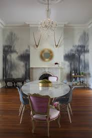 living space photos hgtv white eclectic dining room with tree