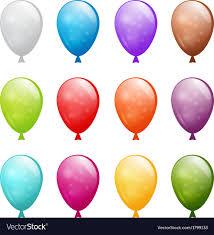 Set of shiny balloons Royalty Free Vector Image