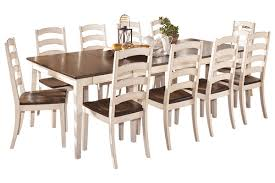 ashley furniture farmhouse table ashley furniture whitesburg in cream with 10 chairs saw at store