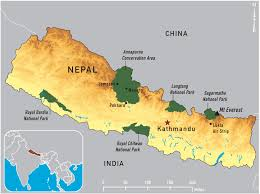 Map Of India And Nepal by Nepal Map The Roof Of The World By Bus Car And Foot