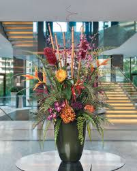 artificial floral arrangements lush tropical silk flower arrangements and plants at petals