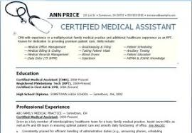 resume templates for medical assistants epic resume templates for certified medical assistant also medical