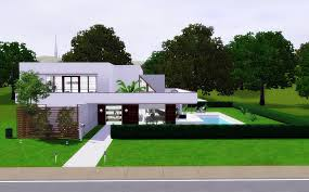 30x30 House Plans by Houses Moderns Sims 3 House Modern