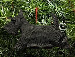 scottish terrier ornament black