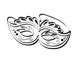black and white mardi gras masks ornamentic mardi gras mask for the festival coloring page