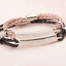 his and hers engraved bracelets his and hers personalised identity bracelets bracelets jewlery