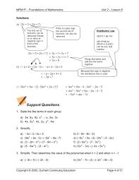grade 9 applied math 2 6 polynomials u2014 jeremy barr