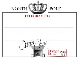 printable north pole telegram