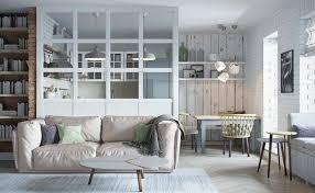 verriere separation cuisine cuisine avec verrière intérieure canapé droit en cuir pâle