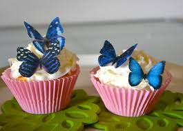 edible cake decorations wedding cake topper 12 blue edible butterflies edible