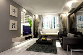 small apartment design floor plan white cabinetry satin curtains