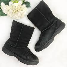 s suede boots size 9 97 ugg shoes ugg black suede boots size 9