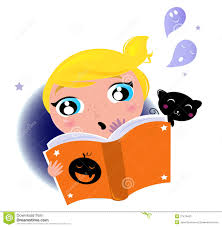 halloween kid clipart cute little kid reading halloween story book stock photos image