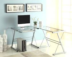 glass l shaped office desk glass office desk ideas using transpa glass computer desk in l glass l shaped office