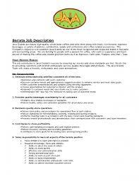 How To Do Job Resume by Barista Job Description Resume Berathen Com