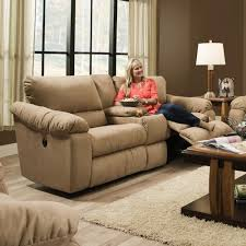 Reclining Sofa With Console by Southern Motion Gravity Double Reclining Console Sofa With Cup