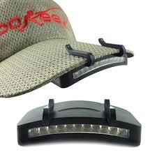 clip on visor light fishing caplight bright led hat clip light hands free ball visor cap