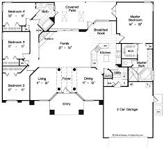 single story 5 bedroom house plans floor plan single story four bedroom house plans single story 4