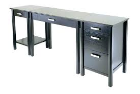 Computer Desks Black Wood Desk Bethebridge Co