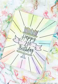 21 birthday card design seven hills crafts blog 21st birthday cake card