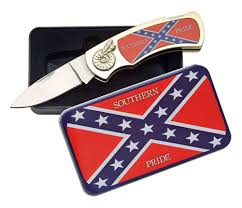 Confederate Flag Wallet Confederate Rebel Flag Southern Pride Flip Knife And Tin Case