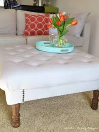 Diy Tufted Ottoman Sarah M Dorsey Designs Diy Tufted Ottoman Complete Making Own