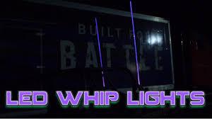 Led Whip Flags Led Whip Lights Superatv Youtube