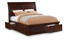 Storage Bedroom Furniture Sets Delray King Sleigh Bed With Storage And Awesome Bedding King