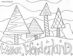 winter wonderland coloring with pages glum me