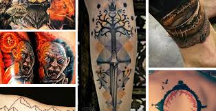 lord of the rings tattoos from and for fans