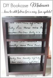Bookshelf Or Bookcase Diy Fabric Lined Bookshelf Makeover Setting For Four