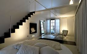 Small Loft Bedroom Decorating Ideas Minimalist Bedroom Interior Design In Small Loft Area