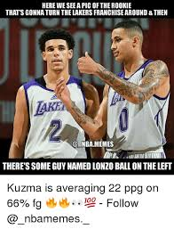 Funny Lakers Memes - here we see a pic of the rookie that s gonna turn the lakers