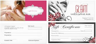 free gift certificate template for nail salon u2013 gift ftempo