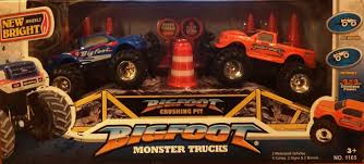 original bigfoot monster truck amazon com new bright wheels bigfoot monster trucks set 2