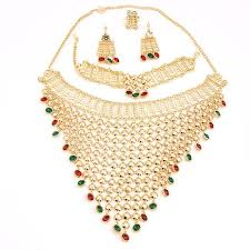 gold costume necklace images New charms dubai 18k gold plated fashion wedding bridal jpg