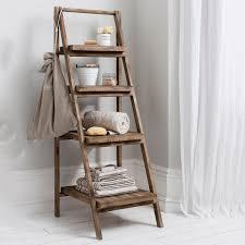 Bathroom Ladder Shelves Picturesque Wooden Towel Holders For Bathrooms To Do Pinterest