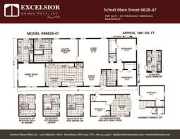 schult floor plans schult main street 6828 47 excelsior homes west inc