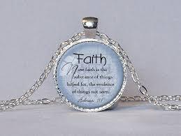 faith gifts אמונה עברים 11 1 תליון התנ ך ציטוט כתובי תכשיטי תליון שרשרת אמונה