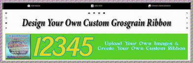 custom grosgrain ribbon wholesale custom grosgrain ribbon roll using online designer tool