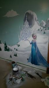 the fox 99 9 daughters frozen themed mural daughters frozen themed mural