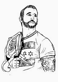 wwe coloring pages bestofcoloring com