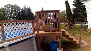 Pool Shed Ideas Home Made Pool Fence 27 Foot Above Ground Youtube