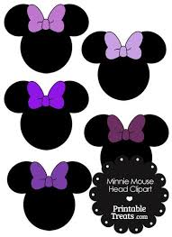 minnie mouse ears pink bow clipart 30