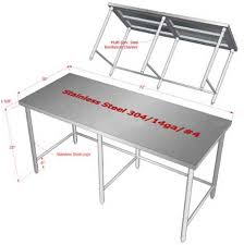 Stainless Kitchen Table by Customized Stainless Steel Work Prep Tables