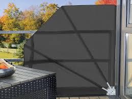 brise vue amovible brise vue rétractable pour balcon et terrasses 140cm gris beige
